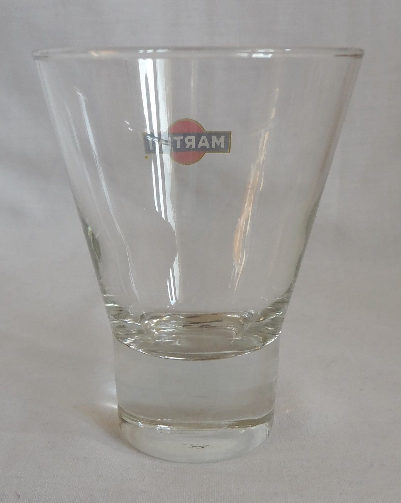 Martini 6 oz Glass Barware Red Black White Logo