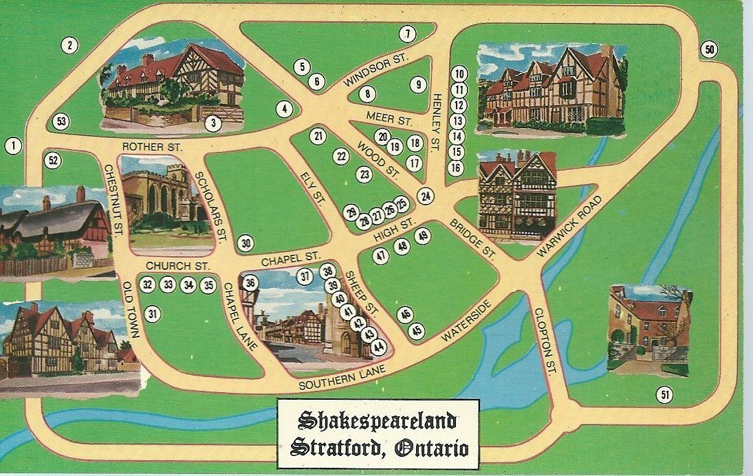 Shakespeareland Stratford Ontario Collector Souvenir Trade Card