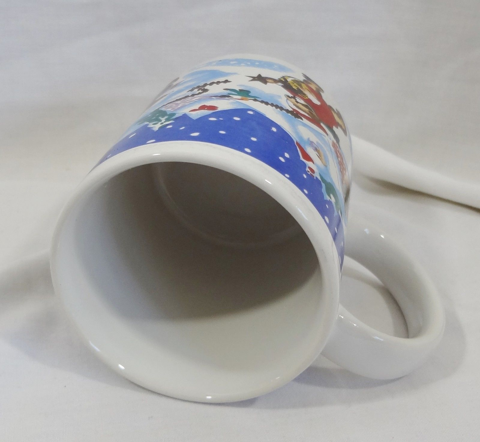 Christmas Winter Scene Holiday 8 oz Coffee Mug Cup