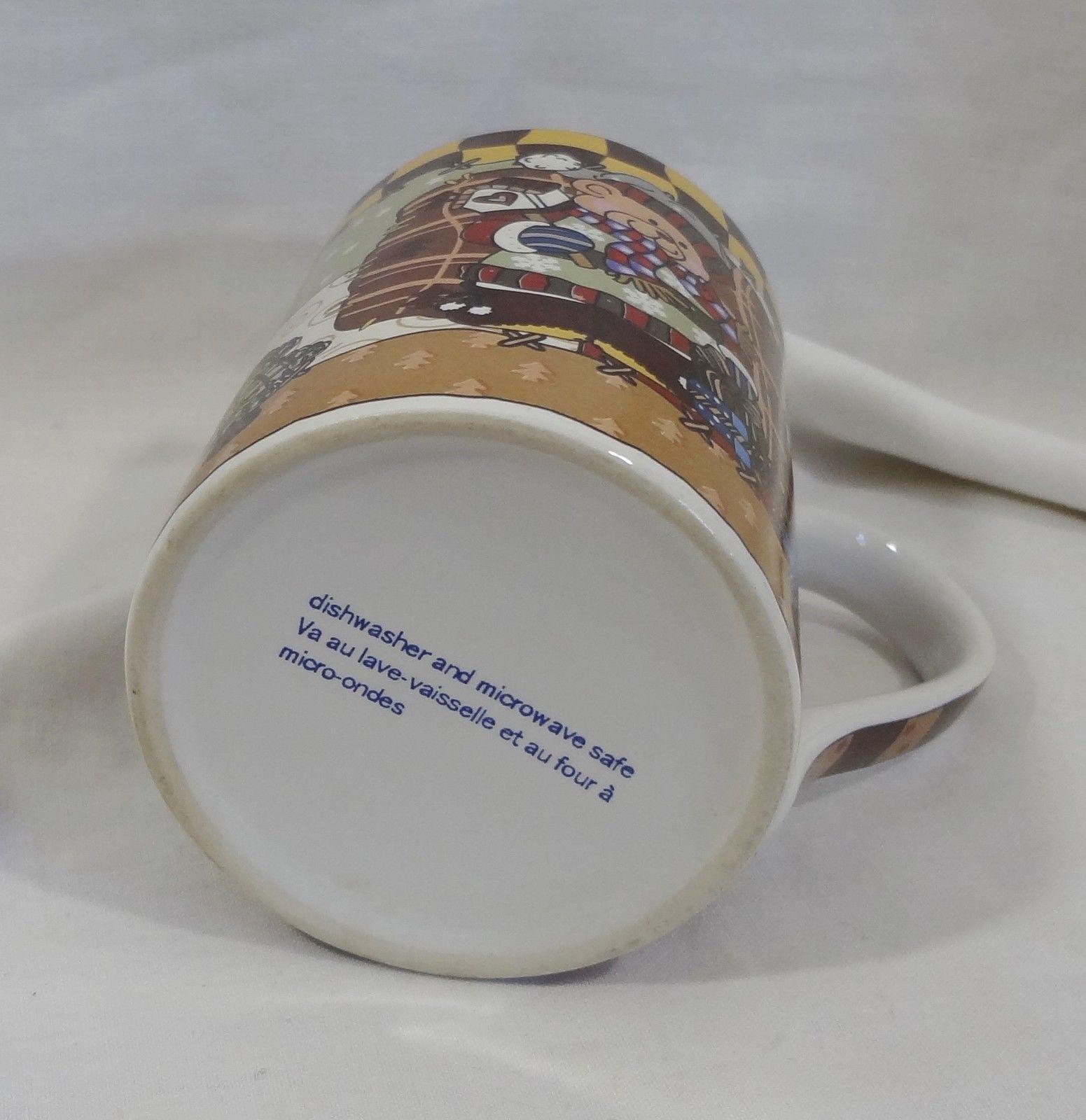 Christmas Holiday Country Patchwork Teddy Bear 8 oz Coffee Mug Cup