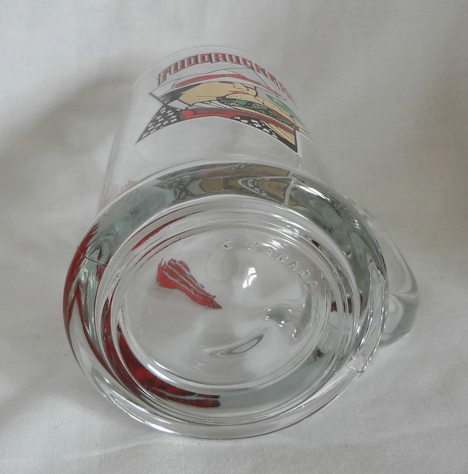 Fuddruckers The World's Greatest Hamburger 14 oz Glass Tankard Mug