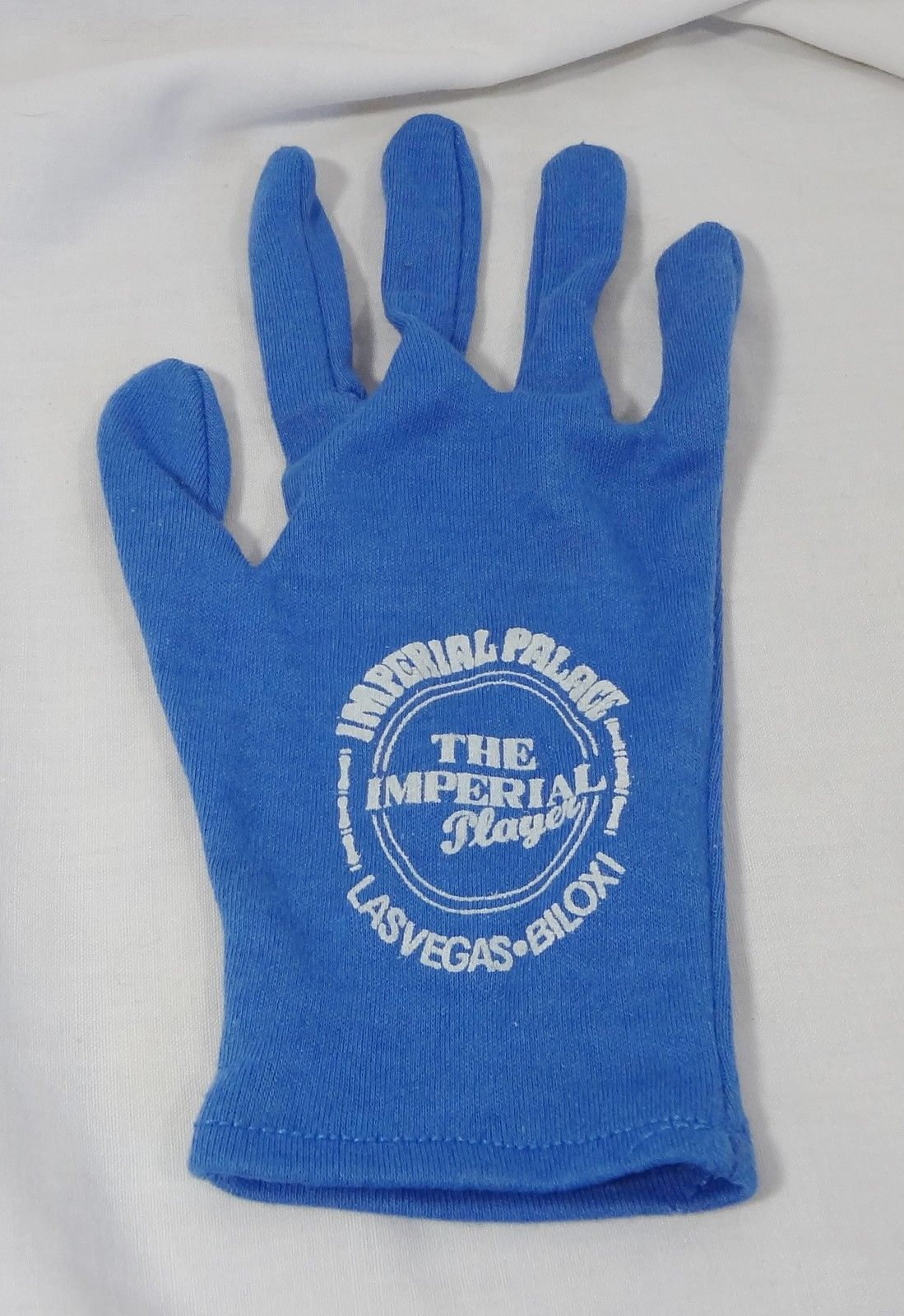 Imperial Palace The Imperial Player Las Vegas Biloxi Gambling Glove Blue