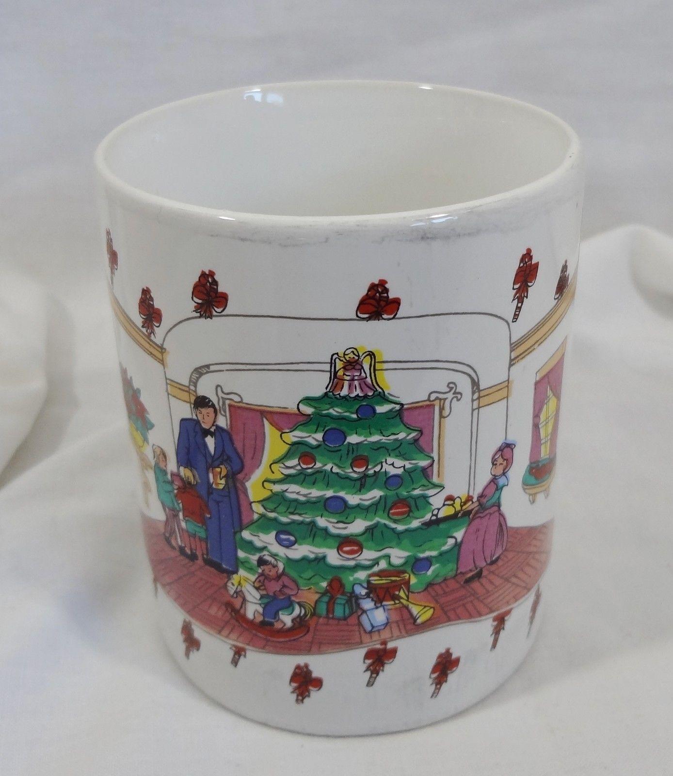 Christmas Tree Living Room Family 8 oz Coffee Mug Cup
