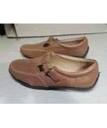 Womens DR. SCHOLL'S pre owned Leather Mary Janes Loafers Shoes SIZE 7 me... - $22.32