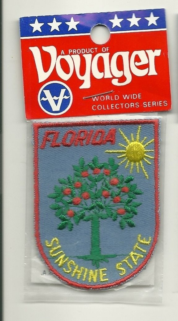 Embroidered Souvenir Patch Florida Sunshine State Orange Tree New in Package