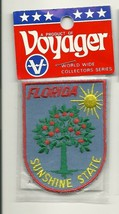 Embroidered Souvenir Patch Florida Sunshine State Orange Tree New in Package - $4.99