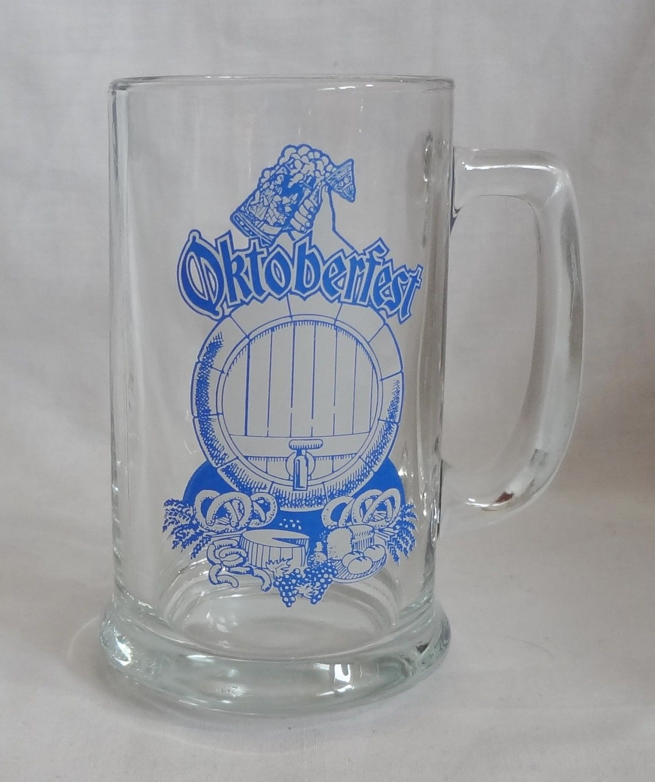 Oktoberfest 14 oz. Glass Beer Keg Mug Barware