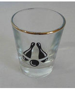 Bowling Bowlers 2 oz Gold Rimmed Barware Shot Glass  - $2.99