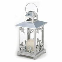 Silver Metal Scrollwork Candle Lantern - $19.48