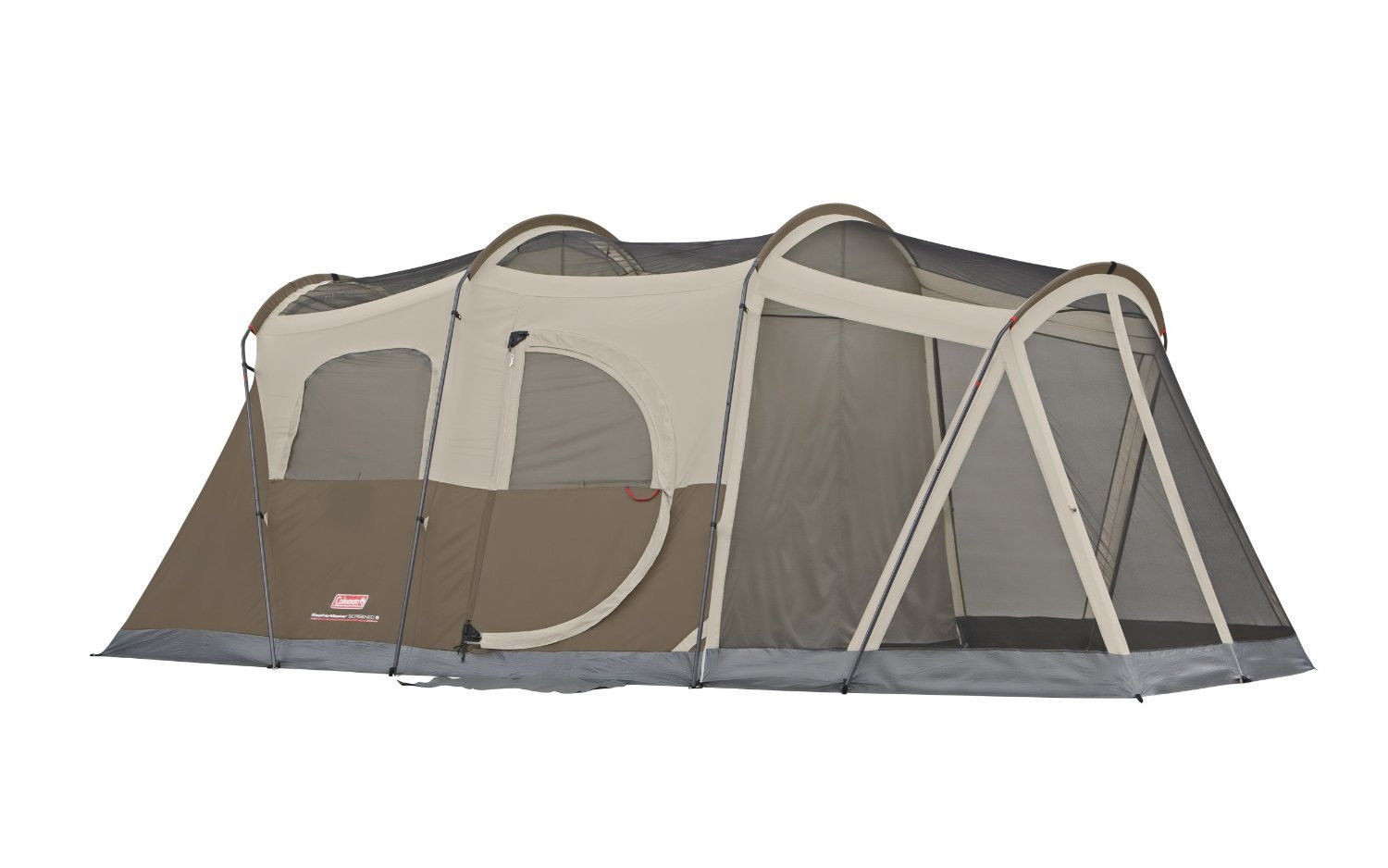 Screened 6-Person 2 Room 2 Door Camping Cabin Tent  Hiking Electric Access Port