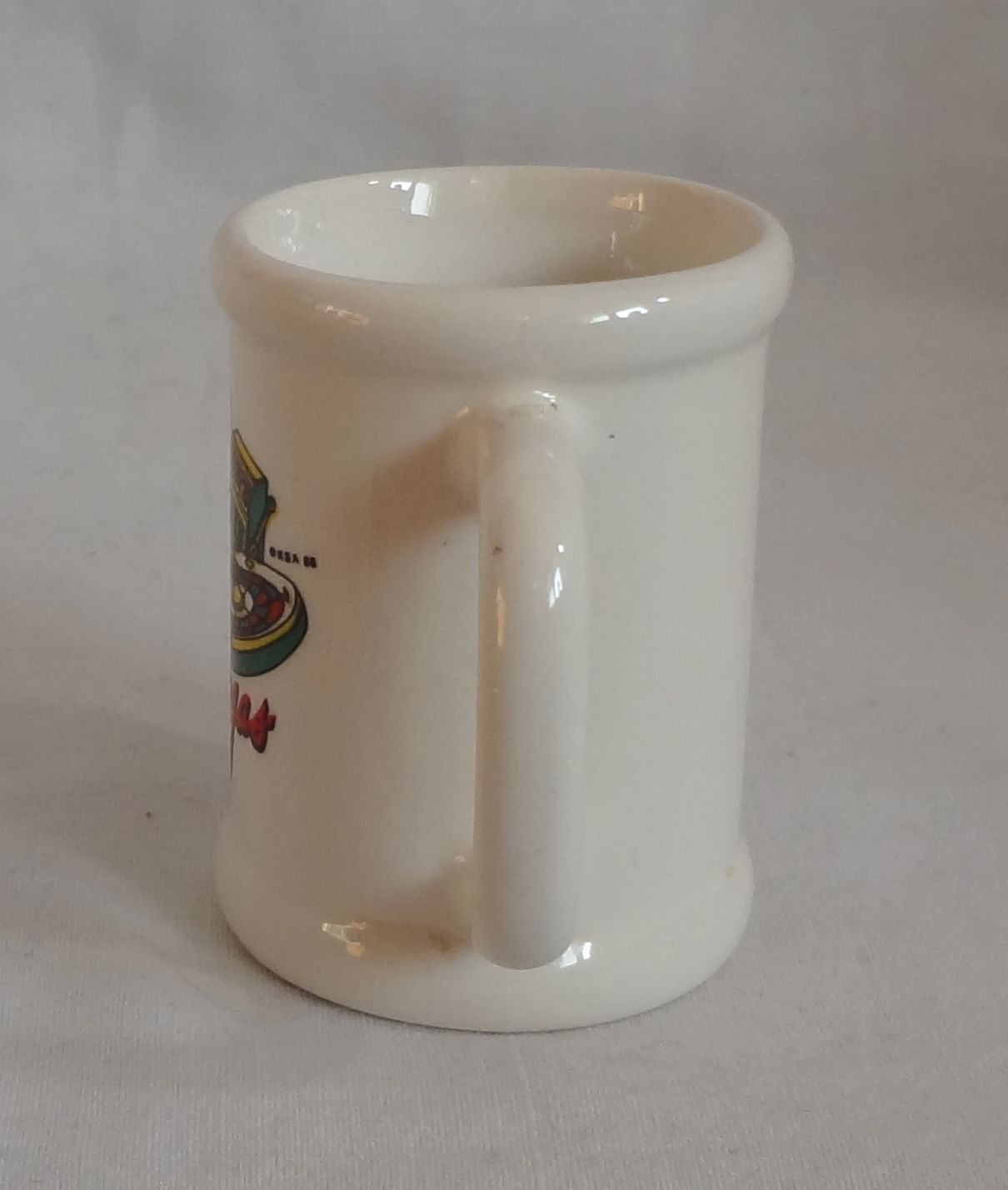 Las Vegas Gamblers Handled Ceramic Stein Mug 2 oz Shot Glass Barware Souvenir