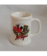 Las Vegas Gamblers Handled Ceramic Stein Mug 2 oz Shot Glass Barware Sou... - $1.99