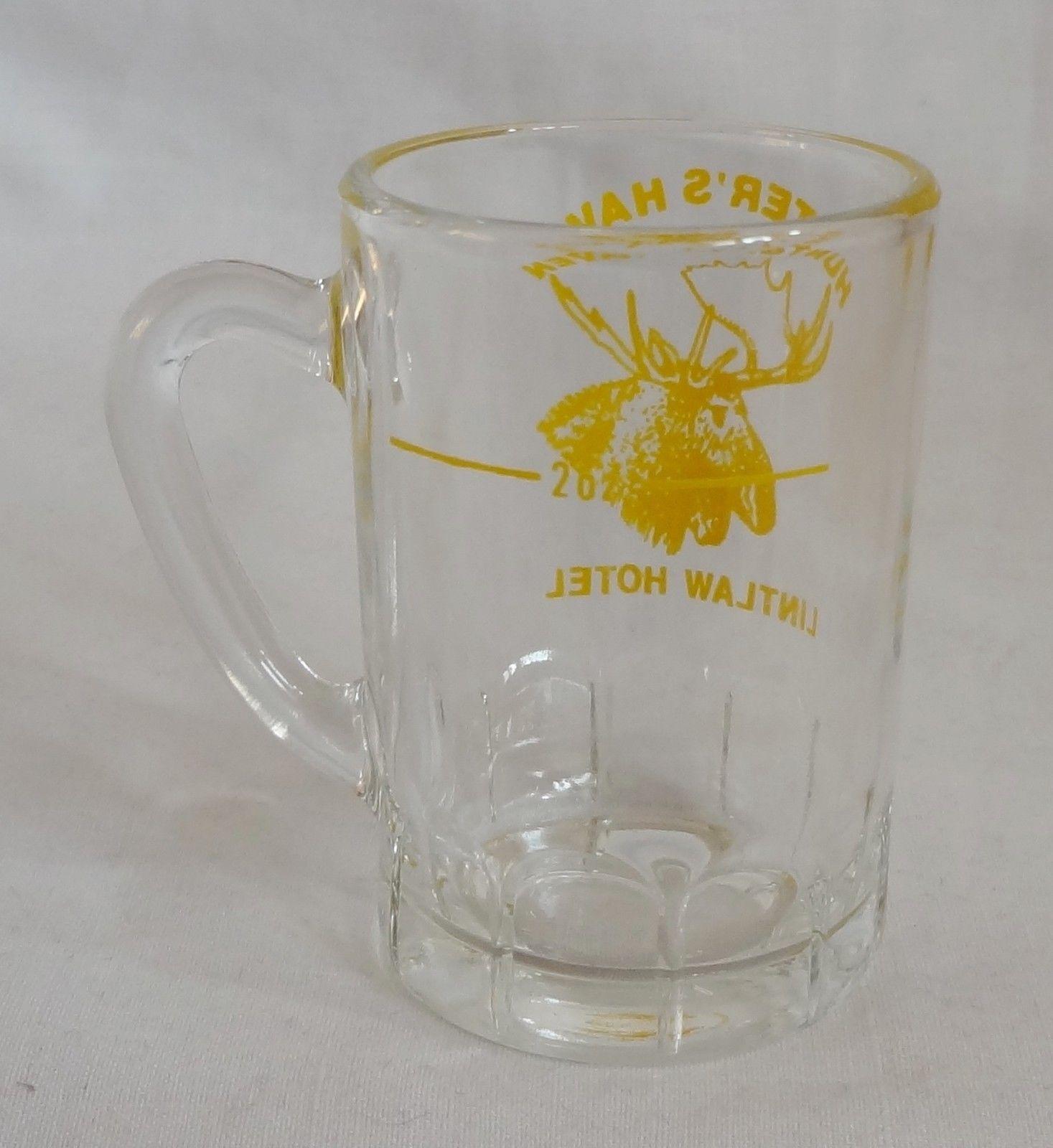 Hunter's Haven Lintlaw Hotel Moose 2 oz Beer Stein Shot Glass Mug Barware