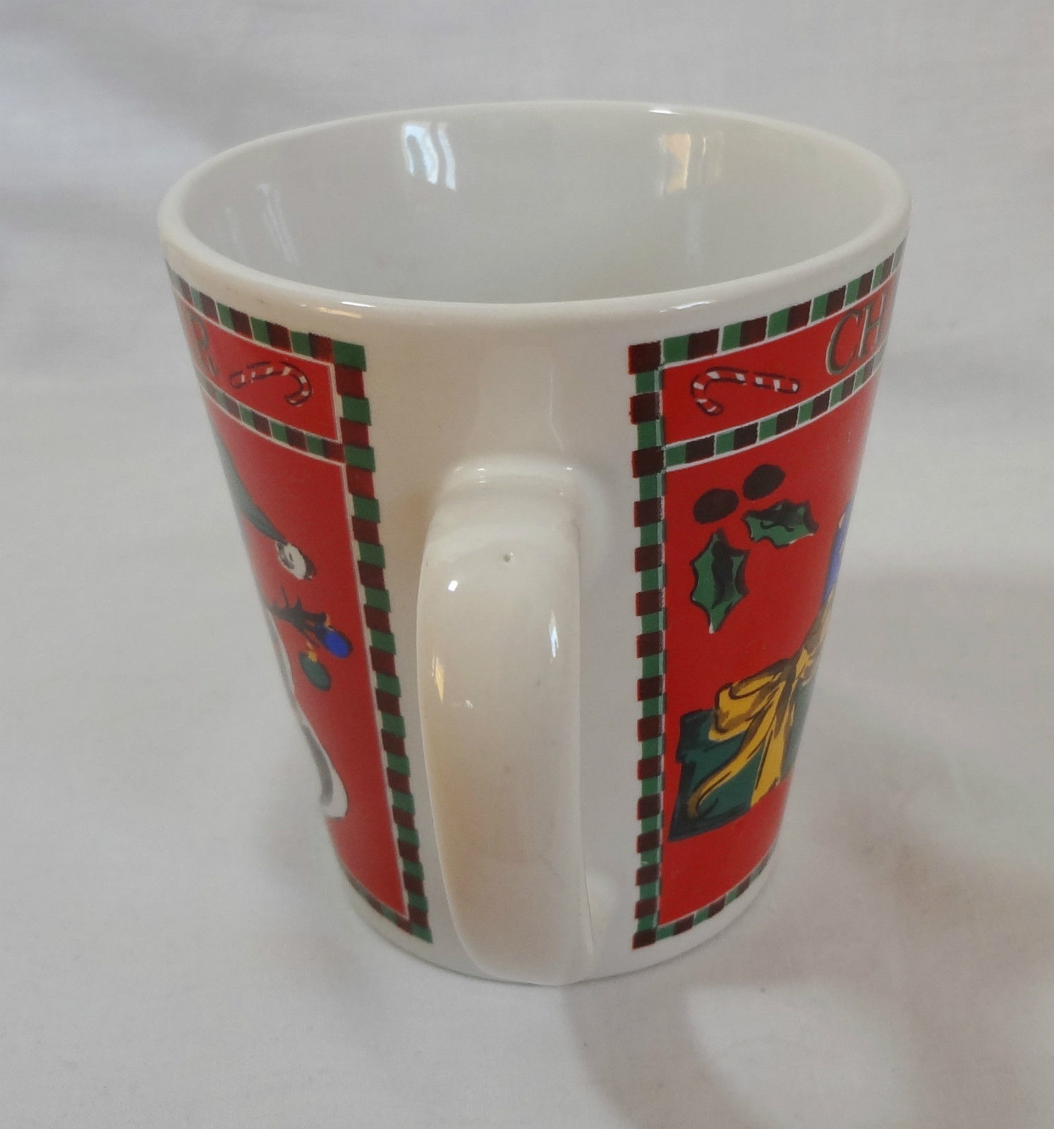Christmas Cheer Snowman Mitt Hat Skate Gifts 10 Oz. Coffee Mug Cup