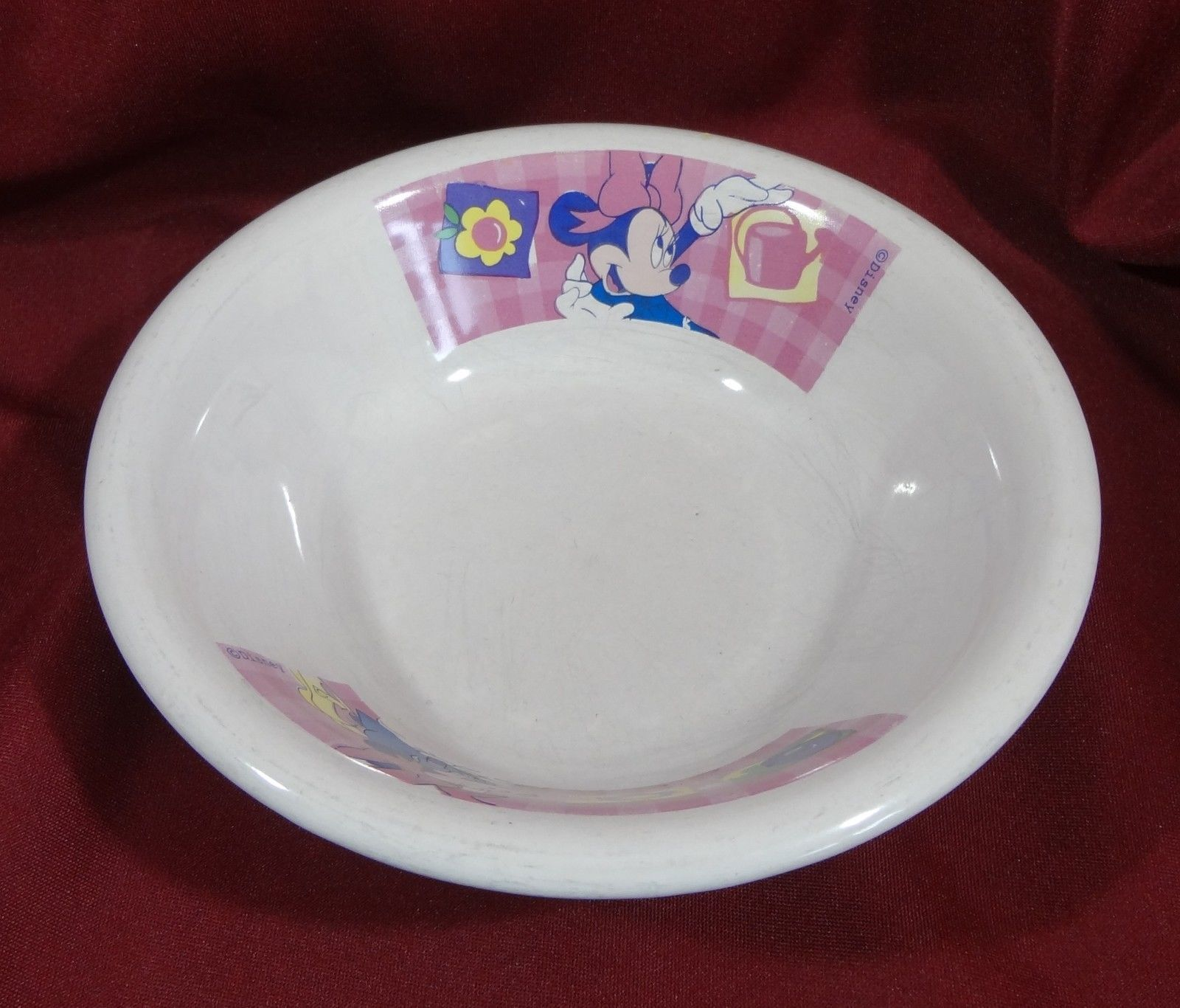 Disney Minnie Mouse Rim Cereal Bowl Heavy Ceramic Vintage