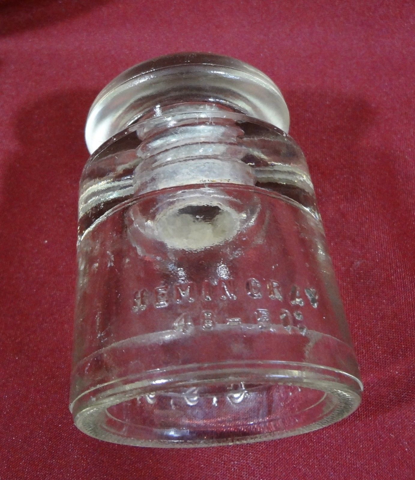 Hemingray 50 - 51 Glass Insulator Clear Telephone Electrical Power Pole Vintage