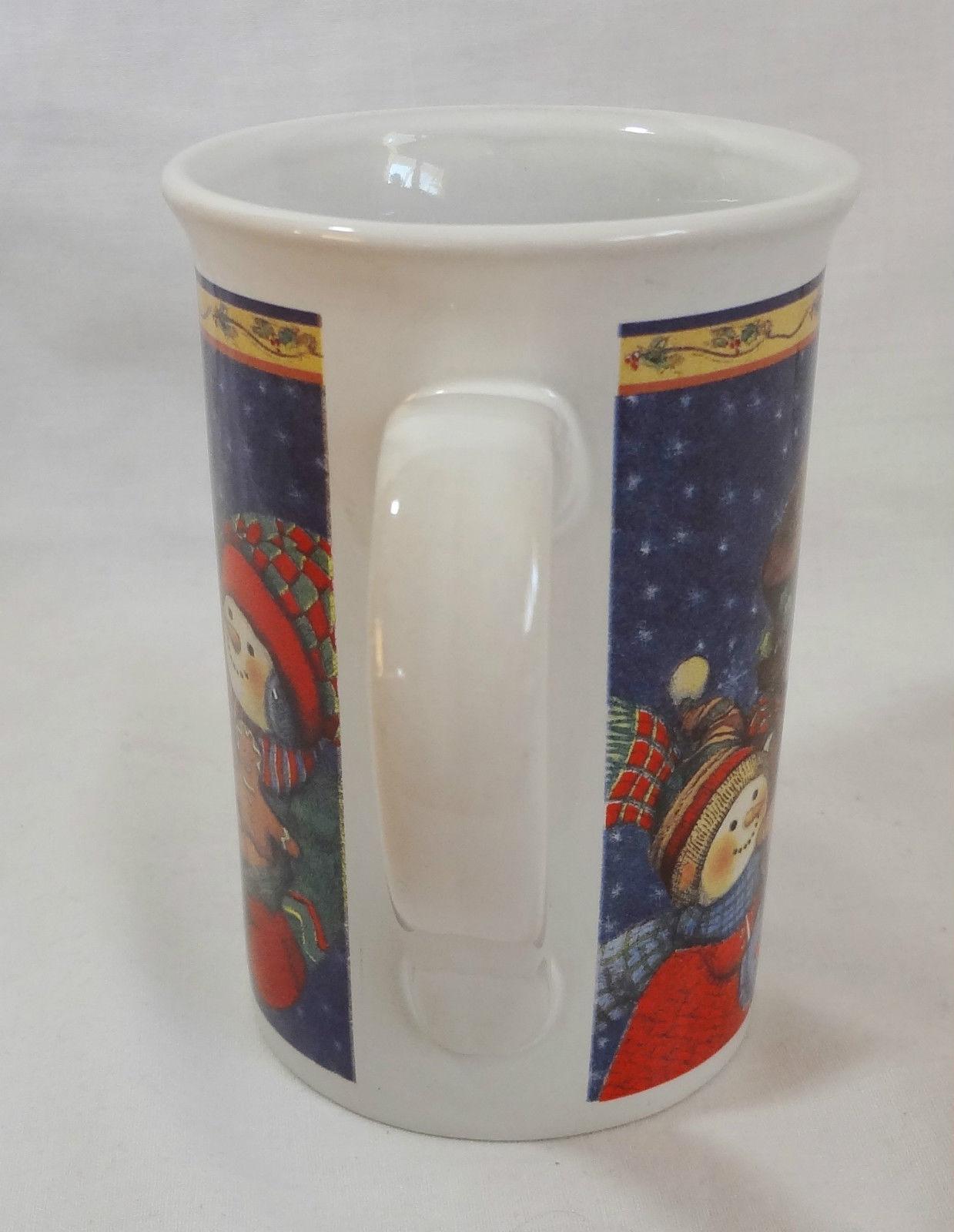 Christmas Snowman Family Gingerbread Cookies 10 oz Coffee Mug Cup