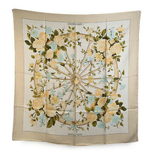 Authentic Hermes Vintage Silk Jacquard Scarf Romantique 1981 Maurice Tra... - $306.90