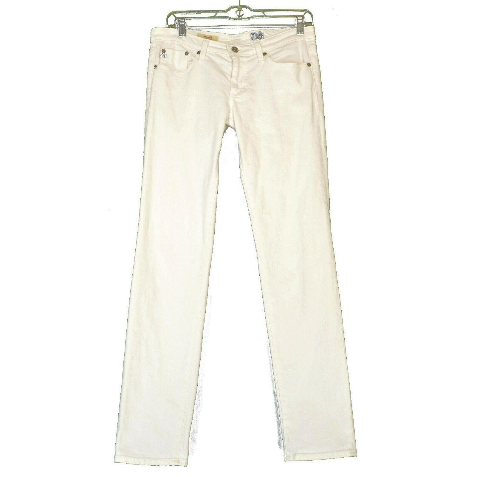 AG Adriano Goldschmied jeans 29 x 31 Stilt cigarette leg White thick EUCUSA