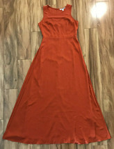 Forever 21 Contemporary Long Orange Dress Floor Length Womens Size Medium  - $54.45