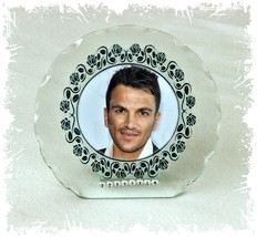 Peter Andre  Cut Glass Round Plaque + Diamante Crystals Limited Edition  #1 - $32.07