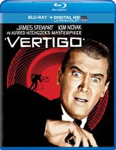 VERTIGO BLU-RAY DVD HD DIGITAL ULTRAVIOLET ALFRED HITCHCOCK JIMMY STEWAR... - $14.99