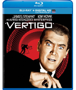 VERTIGO BLU-RAY DVD HD DIGITAL ULTRAVIOLET ALFRED HITCHCOCK JIMMY STEWAR... - $14.99