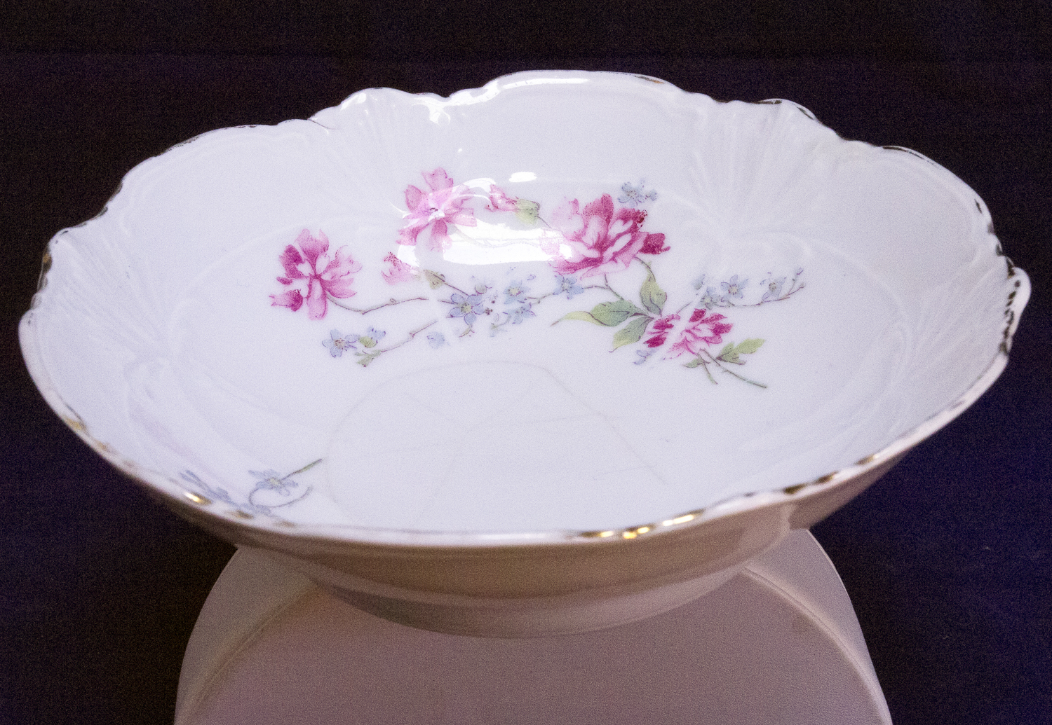 Vintage Small Fruit Or Dessert Bowl From Weimer Of Germany
