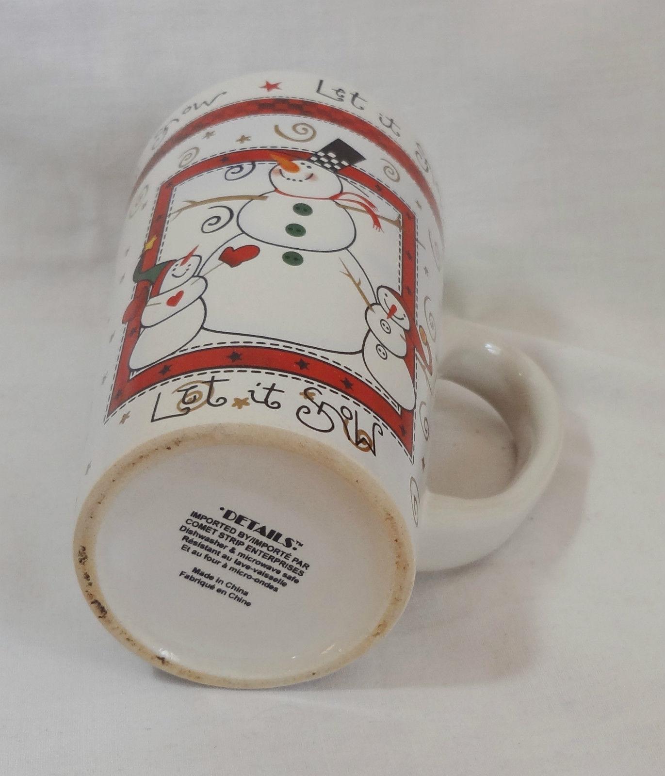 Christmas Let It Snow Snowman Winter 14 Oz Coffee Mug Cup