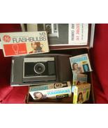 Vtg Polaroid Electric Eye Land Camera Model J66 Manual Orig Case Flash B... - $32.50