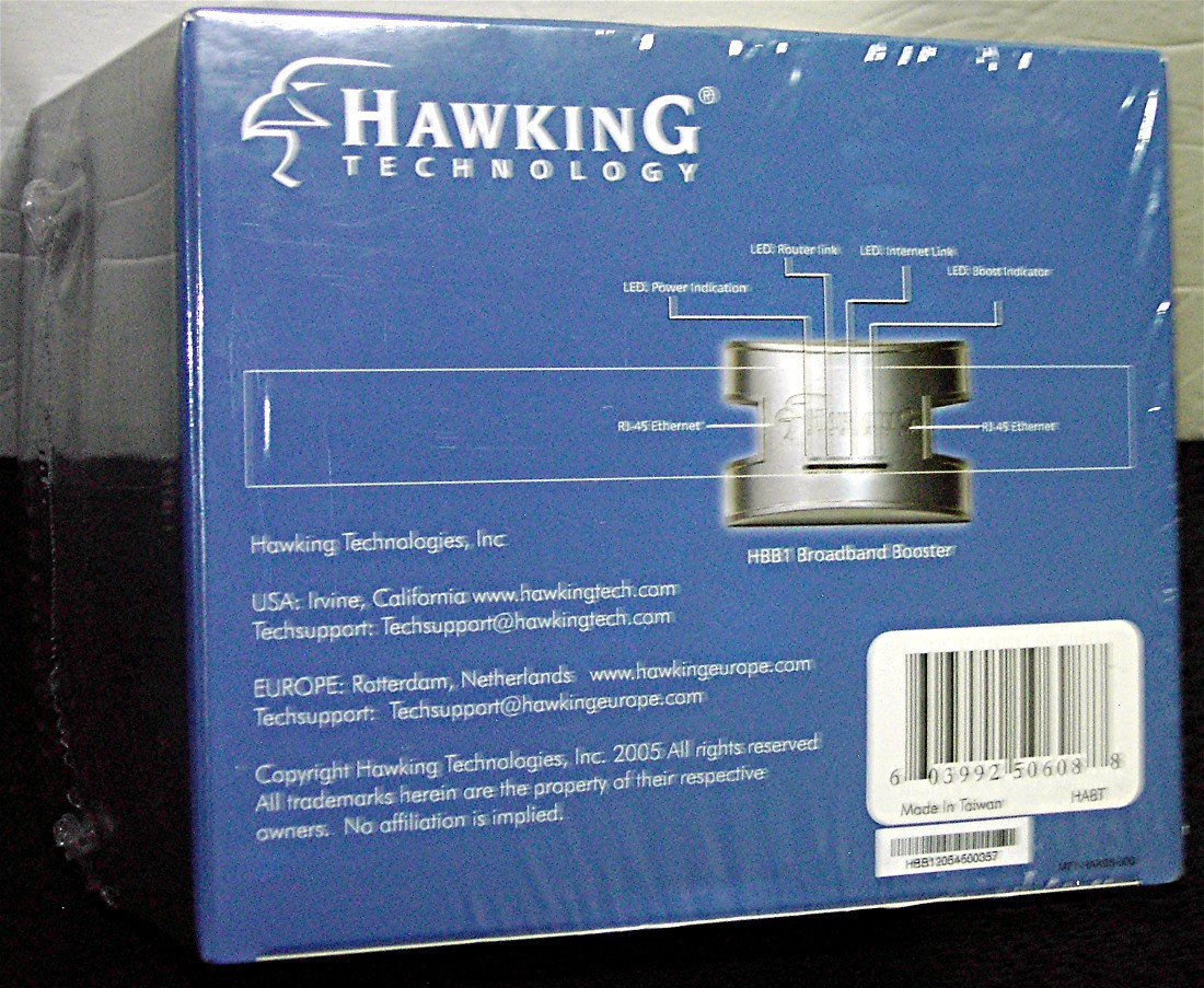 New HBB1 Broadband Booster by Hawking Technology