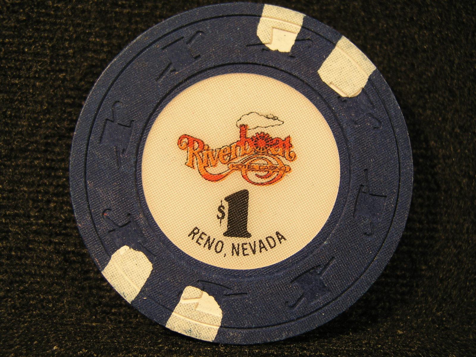 "$1.00 CASINO CHIP FROM: ""RIVERBOAT HOTEL & CASINO"" - (sku#2437)"