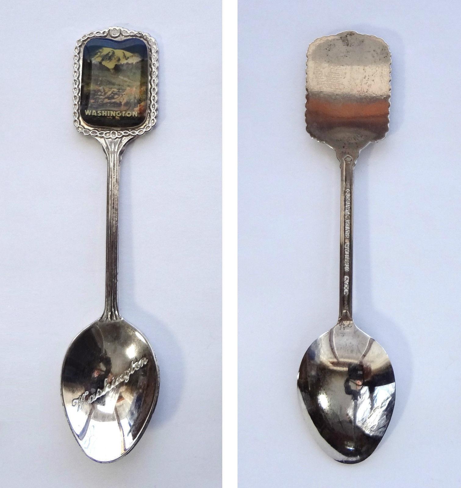 Collector Souvenir Spoon USA Washington Mountain View Emblem