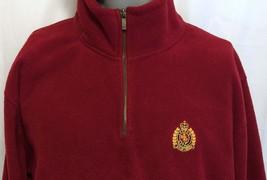Lauren Ralph Lauren Red Half Zip Pullover Fleece Size 2XL Embroidered Preppy - $42.07