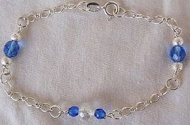 Blue bracelet - $25.00
