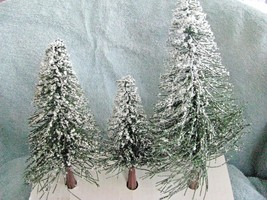 "Set of 3 Fir Trees Snow Covered 5, 6. and 7"" - $23.71"
