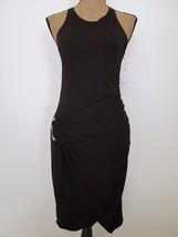 NWT ABS Allen Schwartz Dress brown sleeveless slinky Medium Ladies $203 - $19.79