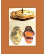 Apollo Studios Brass Box, Ormolu Lid on Cambridge Glass, Cosmetic Compac... - $180.00