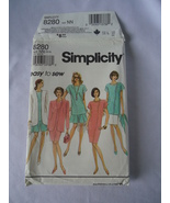 Vintage Simplicity #8280 Misses  Dress/Tunic Skirt and Jacket Pattern Si... - $6.50
