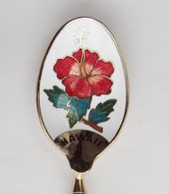 Collector Souvenir Spoon USA Hawaii Hibiscus Cloisonne Bowl Rhonda Apr. 88 - $4.95