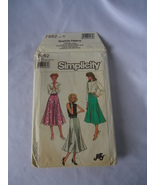 Vintage Simplicity #7962 Jiffy  Misses Skirt in 2 Lengths  Pattern Size ... - $6.50