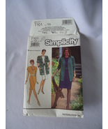 Vintage Simplicity # 7101 Misses Miss Petite Dress and Jacket Pattern Si... - $6.50