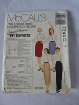 1994 Vintage McCall's # 7244  Misses 1 Hour Skirt In 4 Lengths  Pattern ... - $6.50