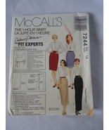 1994 Vintage McCall's # 7244  Misses 1 Hour Skirt In 4 Lengths  Pattern ... - $6.50