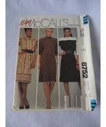 1983 Vintage McCall's # 8752 Misses Dress  Pattern Size 14 Bust 36 Uncut  - $6.50