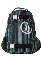 VOLCOM MEN'S GUYS equilibrium BLACK/TURQUOISE STRIPE  BACKPACK NEW $59 - $49.99