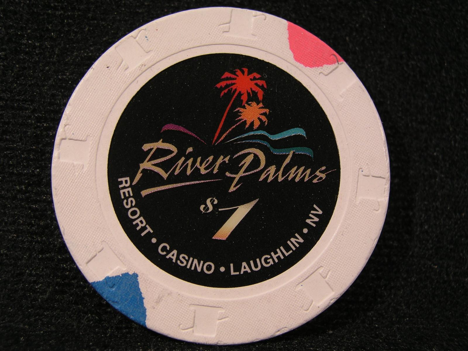 "$1.00 CASINO CHIP FROM: ""RIVER PALMS RESORT CASINO"" - (sku#2439)"