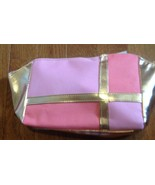 Olay/Cover Girl Mosaic PINK, ORANGE & GOLD Canvas Cosmetic Bag - $5.99