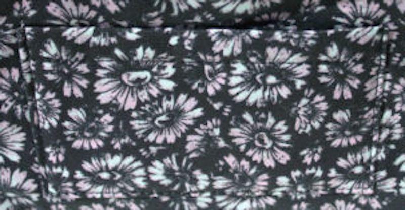 SUNO For Beauty.com Cosmetic Bag BLACK DAISEY PRINT