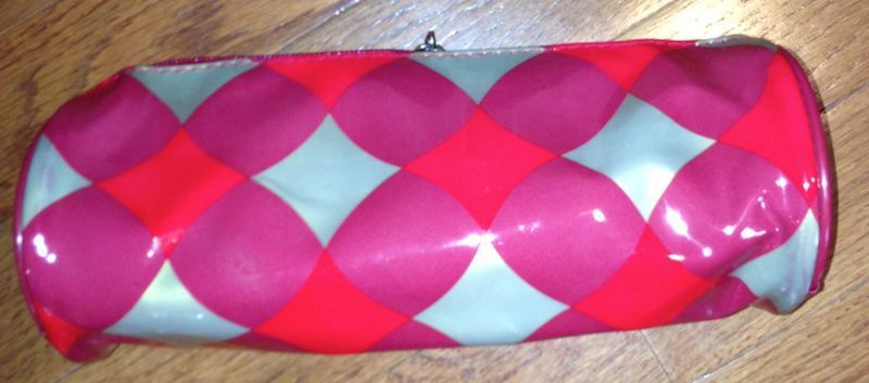 Ulta Gold & Red Zipper Top Cosmetic Bag